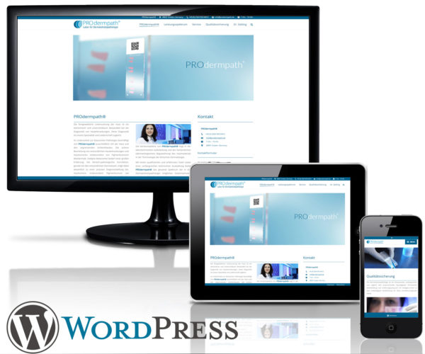 Wordpress Website PROdermpath in Vreden