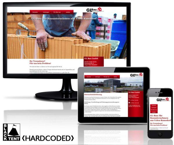 Bauunternehmen GL-Bau in Velen Ramsdorf, Webdesign von BLACKTENT