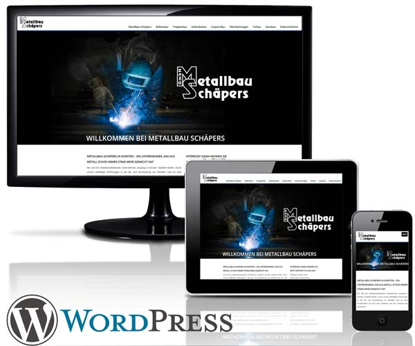 WordPress Website Metallbau Schäpers in Dorsten