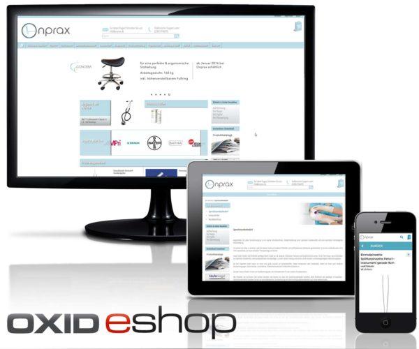 Oxid Webshop Onprax in Marl