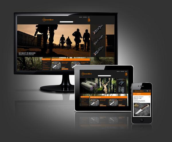 Responsive Webdesign bei Gunnersgear, einen Webshop erstellt von BLACKTENT in Dorsten