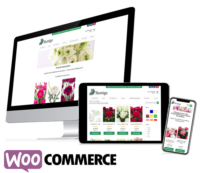E-Commerce Kunde Blumigo